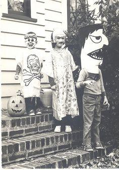 Halloween 1968. Love the Frankenstein mask.