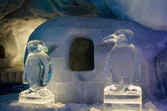 Eisskulpturen #Pinguine. #Eisskulpturen #Eisfiguren #Mittelallalin #Eispavillon #Saas-Fee #icesculptures  www.eisskulpturen.ch