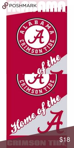 Alabama Crimson Tide Beach Towel 28x58 Fully Licensed Beach Towel Brand new in bag with tag NCAA Other