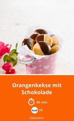 Orange biscuits with chocolate Dog Food Recipes, Cooking Recipes, Orange Cookies, Chocolate Cookie Recipes, Fox Cookies, Pumpkin Spice Cupcakes, Cinnamon Cream Cheeses, Orange Recipes, Bear Cakes