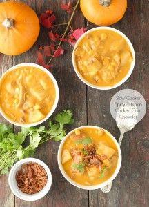 Slow Cooker Spicy Pumpkin Chicken Corn Chowder   Boulder Locavore