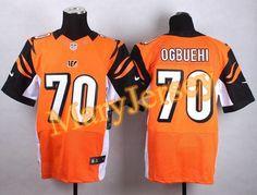 "$23.88 at ""MaryJersey""(maryjerseyelway@gmail.com) Nike Bengals 70 Cedric Ogbuehi Orange Alternate Men Stitched NFL Elite Jersey"