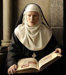 Hildegard of Bingen St Hildegard, Contemplative Prayer, Nuns Habits, Religion, The Cloisters, Medieval Costume, Medieval Clothing, Great Women, Saints