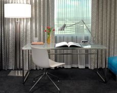 Sleek desk of minimal design