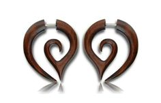 A personal favorite from my Etsy shop https://www.etsy.com/listing/243317827/wood-earring-spiral-fake-gauge-taper