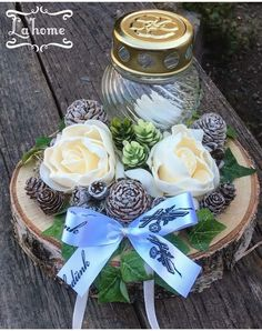 All Souls Day, Table Arrangements, Flower Designs, Farmer, Christmas Diy, November, Projects To Try, Table Decorations, Floral