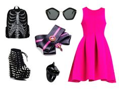 No more boring accessories. Good outfit for a lawyer  after all it's who we are not what we wear. (Chicnova Fashion dress, vintage Francheska shoes, Nach ring, Banned skeleton backpack, MIU MIU sunglasses, brooch by House of April)