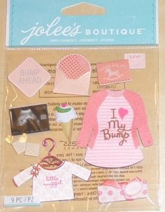 Jolee's Boutique Baby Girl Pregnancy 3D! Dimensional Stickers Cute! #JoleesBoutique #3DDimensionalStickers