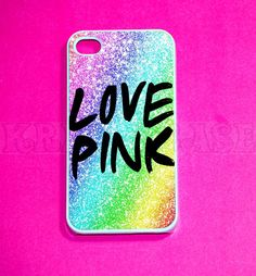 iphone 4 Case, iPhone 4s case - cute Love Pink  iPhone 4 Cases, Iphone 4s Cover,Case for iPhone 4. $14.95, via Etsy.