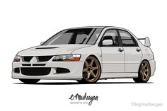 Mitsubishi Lancer Evolution VIII (white) by OlegMarkaryan