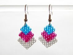 Boucles d'oreilles en perles à repasser Babacha