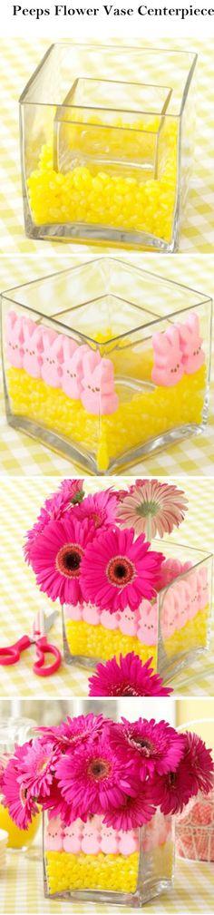 Crafts and DIY Community: Peeps Flower Vase Centerpiece | Crafts and DIY Community
