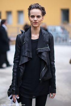 leather jacket / rick owens