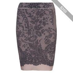 Bcbg Max Azria Scarlett Pencil Lace-Print Pencil Skirt