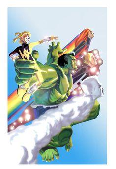 #Hulk #Fan #Art. (Hulk and PowerPack #3 Cover) By:BroHawk. (AW YEAH, IT'S MAJOR ÅWESOMENESS!!!™)...............