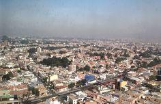 Panorámica hacia el Nor-Occidente de Bogotá; en primer plano el barrio Teusaquillo.