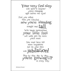 Heres a first birthday poem Look for cards for all occasions in