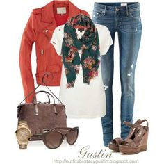 cute fall jacket + scarf - Google Search