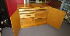 ALVAR AALTO MID CENTURY MODERN CREDENZA SIDEBOARD We just got in this amazingly rare find - an Alvar Aalto design - Danish made - Lacquered Birch Credenza or sideboard. Alvar Aalto was a Finnish design MASTER . I have seen a few pieces of Aalto...