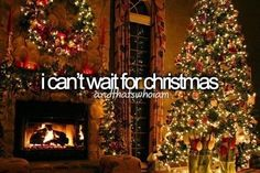 I can't wait for my first Christmas with my husband! New traditions here we come!