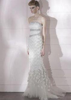 Vestido da Noite Material de Penugento Flore de Lace com Pérola €230.99
