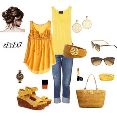 Mellow Yellow, created by dawndayiannelli on Polyvore