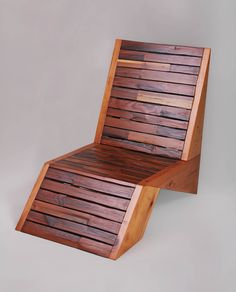Stunning chair design by Sweet Redemption Design using recycled redwood.