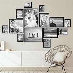 marco de fotos familiares hermoso Family Pictures On Wall, Family Wall, Photos On Wall, Wall Decor Pictures, Family Photos, Black Picture Frames, Picture Frame Sets, Photo Frame Ideas, Picture Photo