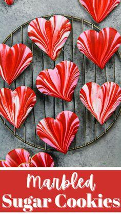 Valentine Sugar Cookie Recipe, Easy Sugar Cookies, Valentine Cookies, Cut Out Cookies, Sugar Cookies Recipe, Valentines Day Treats, Valentine Ideas, Holiday Treats, Baking Recipes