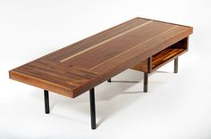 Teak and mahogany reclaimed wood coffee table by arboriform, $940.00