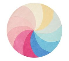 Whimsical, colorful and supremely soft, our Kaleidoscope Round Rug brightens up any room. Boasting a playful rainbow pinwheel design, this round rug is the perfect completer for their playroom. It's crafted from pure wool and is hand-tufted … Ikea Playroom, Playroom Ideas, Nursery Ideas, Childrens Rugs, Personalized Gifts For Kids, Rug Texture, Round Rugs, Pottery Barn Kids, Runes