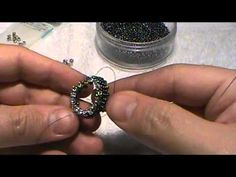 How to bead a bezel for a faceted stone that looks like a real gem setting. - YouTube