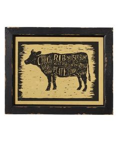 Another great find on #zulily! Beef Butcher's Guide Framed Print #zulilyfinds