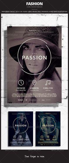 Fashion Flyer / Poster 3  #GraphicRiver          Fash
