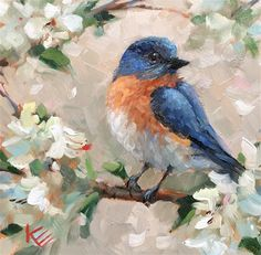 """Daily Paintworks - """"Happiness"""" - Original Fine Art for Sale - © Krista Eaton"""