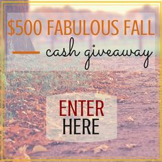 Welcome to the $500 Fabulous Fall Cash Giveaway! We have joined forces with a fantastic group of bloggers to bring you this great giveaway. One lucky person will win $500 cash. Enter to win $500 cash via PayPal. Complete the tasks below to earn entries into this giveaway. Refer your friends using your unique link …