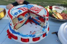1000 Images About Patriotic Cakes On Pinterest 4th Of