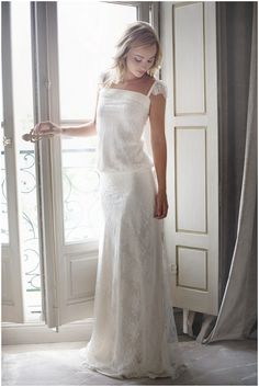 Alternative boho inspired wedding dress