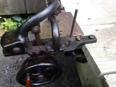 RARE Antique 1800s Beckwith MKIV Table Clamp Sewing Machine Hand Crank