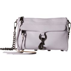 Rebecca Minkoff Mini Mac (Pale Lilac) Cross Body Handbags ($136) ❤ liked on Polyvore featuring bags, handbags, shoulder bags, purple, shoulder strap handbags, fringe crossbody, shoulder handbags, man bag and mini crossbody