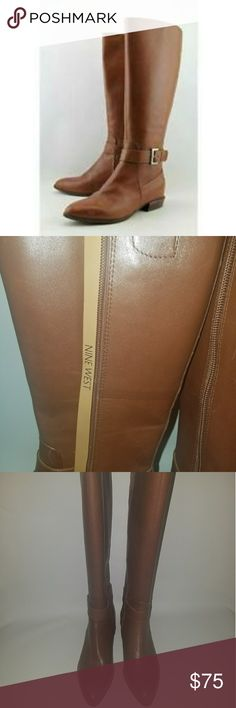 NWT NINE WEST BOOTS NWT NINE WEST Brown boots. POINTED TOE. Low heel. SIZE 5. Comes with box but no lid. Nine West Shoes