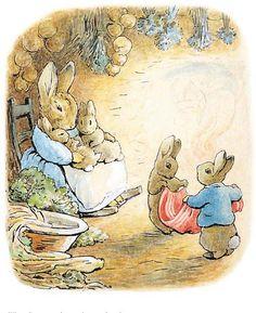 Beatrix Potter: Quotes By 'Peter Rabbit' Author, Illustrator On Her Birthday Beatrix Potter Illustrations, Lapin Art, Beatrice Potter, Peter Rabbit And Friends, Rabbit Illustration, Woodland Illustration, Murals Your Way, Benjamin Bunny, Rabbit Art