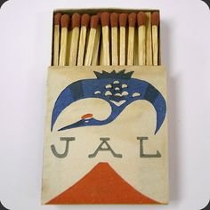 JAL #Matchbox To design & order your business' logo #matches Visit: GetMatches.com