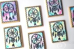 Learn how to decorate beautiful dreamcatcher cookies with royal icing in this tutorial by SweetAmbs!