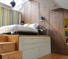 Cleverly Fit Storage Inside The Bed Frame To Save Space