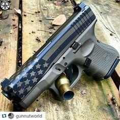 Merica! #glock #babyglock #subcompact #handgun #pistol #firearm #ccw #iwb #2A #2ndamendment #gunsdaily #weaponsdaily #americanflag #starsandstripes #repost @gunnutworld by gunslingo