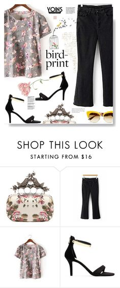"""""""Yoins.com: Bird-print!"""" by hamaly ❤ liked on Polyvore featuring Alexander McQueen and Dolce&Gabbana"""