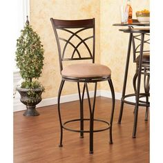 Blair Swivel Counter Stool, Bronze