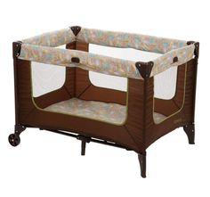 Baby Playpen Crib Safari Animal Theme Portable Play Boy Girl Bed Toddler Kid NEW