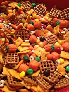 A Daily Dose of Davis: Project Pinterest: {Spiked} Crockpot Carmel Apple Cider, A Halloween Treat for Kids & The Best Fall Snack Mix Ever